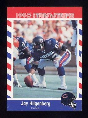 1990 Fleer Stars and Stripes Football #63 Jay Hilgenberg - Chicago Bears