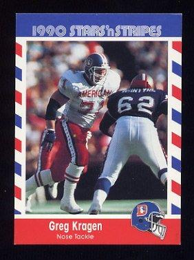 1990 Fleer Stars and Stripes Football #25 Greg Kragen - Denver Broncos