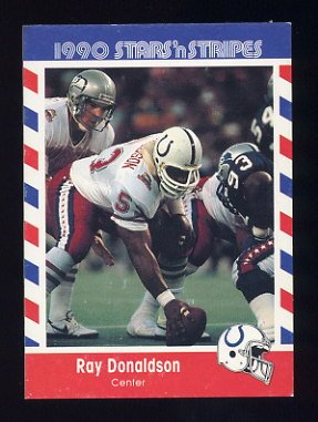 1990 Fleer Stars and Stripes Football #16 Ray Donaldson - Indianapolis Colts