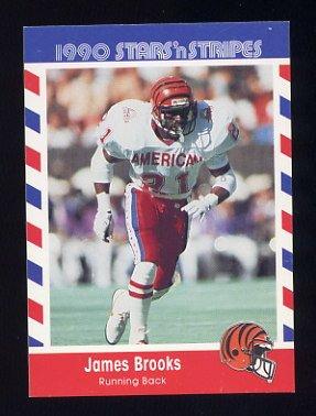 1990 Fleer Stars and Stripes Football #05 James Brooks - Cincinnati Bengals