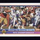 1991 Bowman Football #556 NFC Championship / San Francisco 49ers / New York Giants