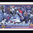 1991 Bowman Football #555 AFC Championship / Los Angeles Raiders / Buffalo Bills