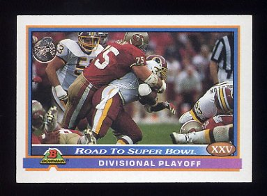 1991 Bowman Football #552 49ers vs. Redskins