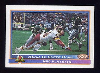 1991 Bowman Football #547 Redskins vs. Eagles