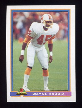 1991 Bowman Football #523 Wayne Haddix - Tampa Bay Buccaneers
