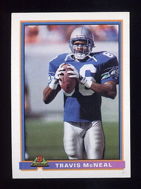1991 Bowman Football #506 Travis McNeal - Seattle Seahawks