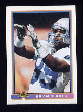 1991 Bowman Football #502 Brian Blades - Seattle Seahawks