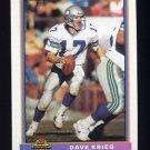1991 Bowman Football #500 Dave Krieg - Seattle Seahawks