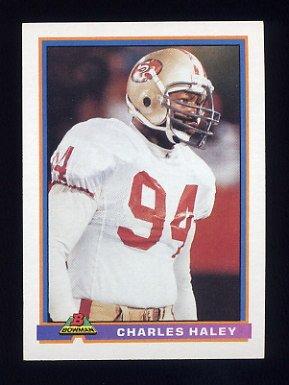 1991 Bowman Football #480 Charles Haley - San Francisco 49ers