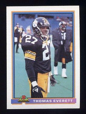 1991 Bowman Football #444 Thomas Everett - Pittsburgh Steelers