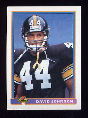 1991 Bowman Football #439 D.J. Johnson - Pittsburgh Steelers