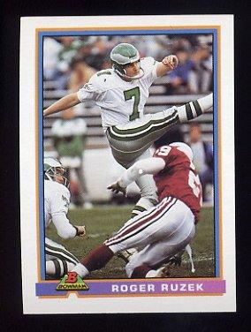 1991 Bowman Football #408 Roger Ruzek - Philadelphia Eagles