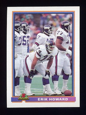 1991 Bowman Football #372 Erik Howard - New York Giants