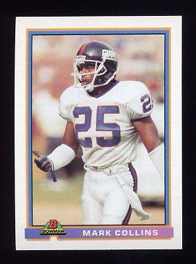 1991 Bowman Football #359 Mark Collins - New York Giants