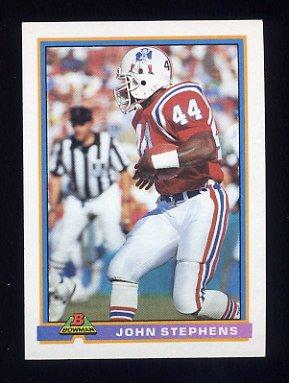 1991 Bowman Football #332 John Stephens - New England Patriots