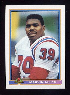1991 Bowman Football #327 Marvin Allen - New England Patriots