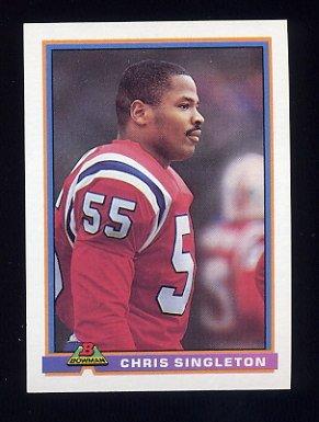 1991 Bowman Football #325 Chris Singleton - New England Patriots