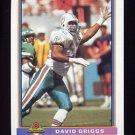 1991 Bowman Football #300 David Griggs - Miami Dolphins