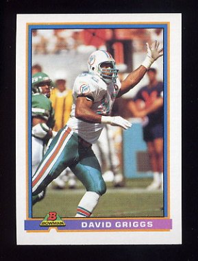 1991 Bowman Football #300 David Griggs - Miami Dolphins