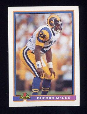 1991 Bowman Football #260 Buford McGee - Los Angeles Rams