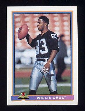 1991 Bowman Football #249 Willie Gault - Los Angeles Raiders
