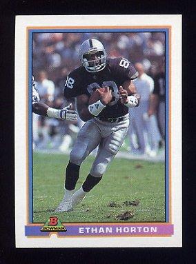 1991 Bowman Football #240 Ethan Horton - Los Angeles Raiders