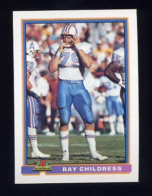 1991 Bowman Football #188 Ray Childress - Houston Oilers