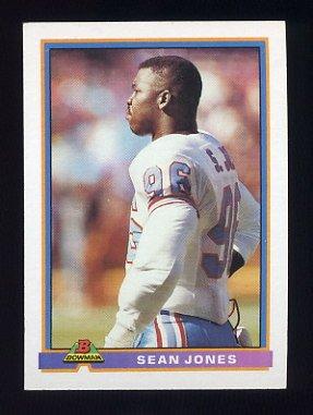 1991 Bowman Football #181 Sean Jones - Houston Oilers