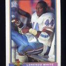 1991 Bowman Football #179 Lorenzo White - Houston Oilers