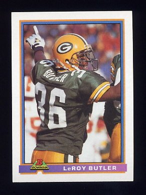 1991 Bowman Football #175 LeRoy Butler - Green Bay Packers
