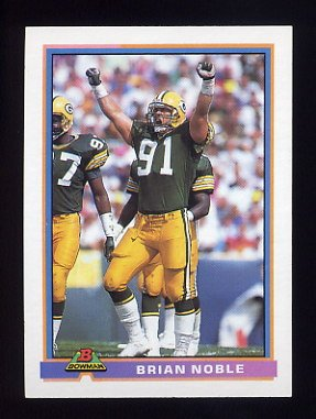 1991 Bowman Football #171 Brian Noble - Green Bay Packers