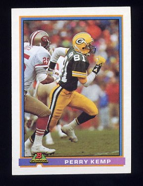 1991 Bowman Football #161 Perry Kemp - Green Bay Packers