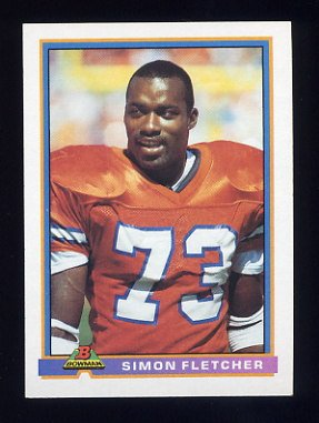 1991 Bowman Football #128 Simon Fletcher - Denver Broncos