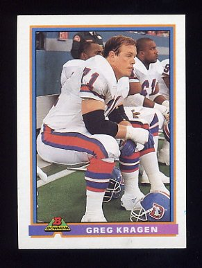 1991 Bowman Football #126 Greg Kragen - Denver Broncos