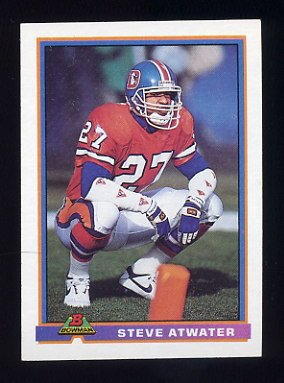 1991 Bowman Football #125 Steve Atwater - Denver Broncos