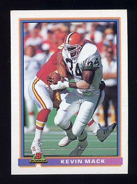 1991 Bowman Football #092 Kevin Mack - Cleveland Browns
