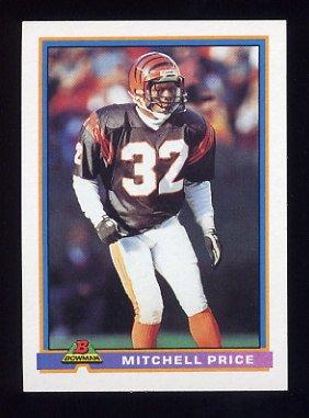 1991 Bowman Football #087 Mitchell Price RC - Cincinnati Bengals