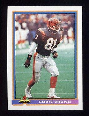 1991 Bowman Football #077 Eddie Brown - Cincinnati Bengals