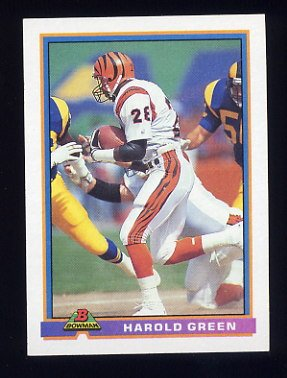1991 Bowman Football #075 Harold Green - Cincinnati Bengals