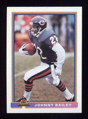 1991 Bowman Football #069 Johnny Bailey - Chicago Bears