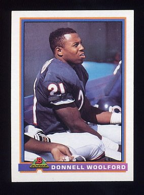 1991 Bowman Football #060 Donnell Woolford - Chicago Bears