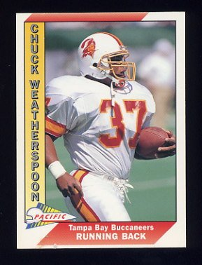 1991 Pacific Football #656 Chuck Weatherspoon - Tampa Bay Buccaneers