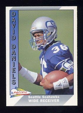 1991 Pacific Football #649 David Daniels RC - Seattle Seahawks