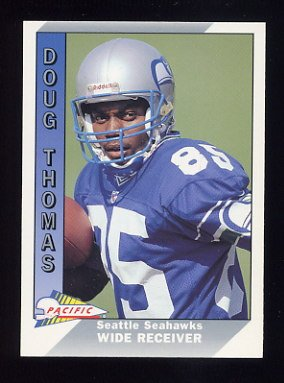 1991 Pacific Football #648 Doug Thomas RC - Seattle Seahawks