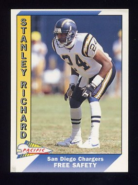1991 Pacific Football #641 Stanley Richard RC - San Diego Chargers