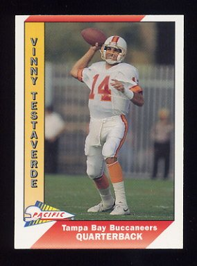 1991 Pacific Football #513 Vinny Testaverde - Tampa Bay Buccaneers