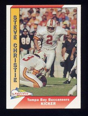 1991 Pacific Football #498 Steve Christie - Tampa Bay Buccaneers