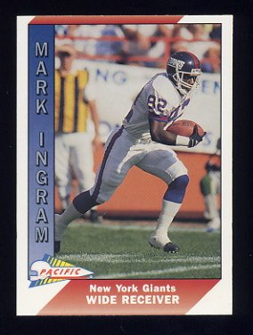 1991 Pacific Football #360 Mark Ingram - New York Giants