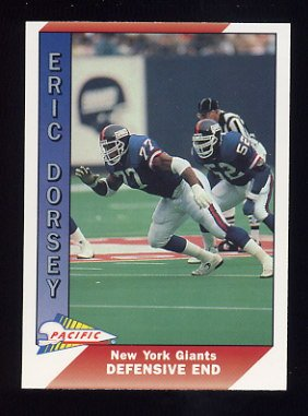 1991 Pacific Football #344 Eric Dorsey - New York Giants