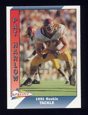 1991 Pacific Football #343 Pat Harlow RC
